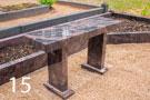 Sarkanbrūnss granīta kapu soliņš