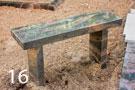 Sarkanbrūns granīta kapu soliņš
